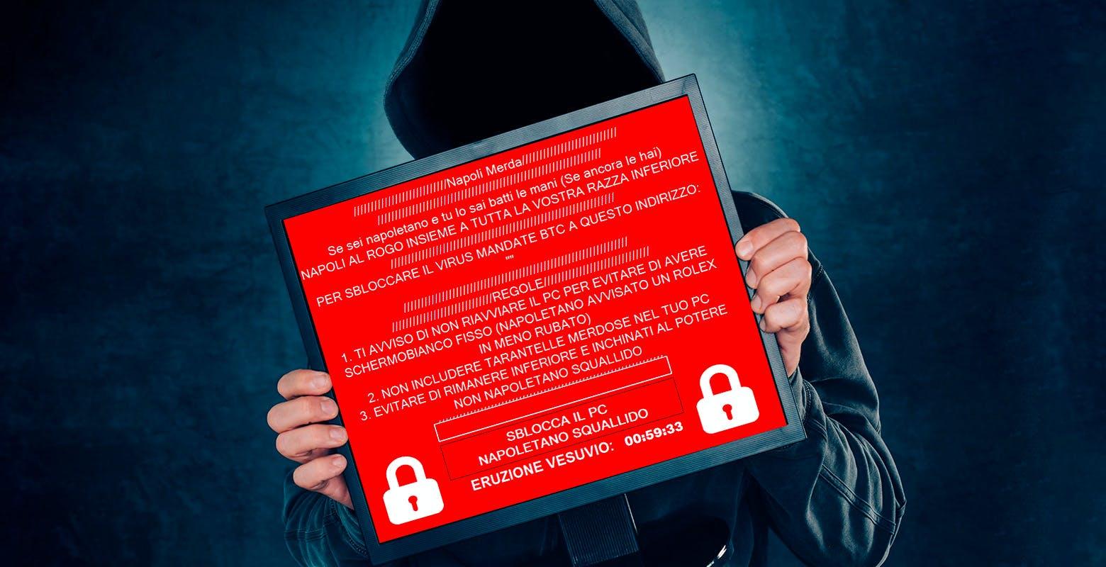 Il ransomware razzista che insulta i napoletani è solo lo scherzo di un bambino frustrato