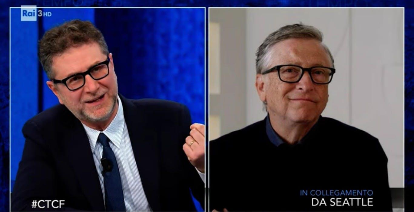 """Bill Gates a """"Che tempo che fa"""": ecco cosa ha detto"""