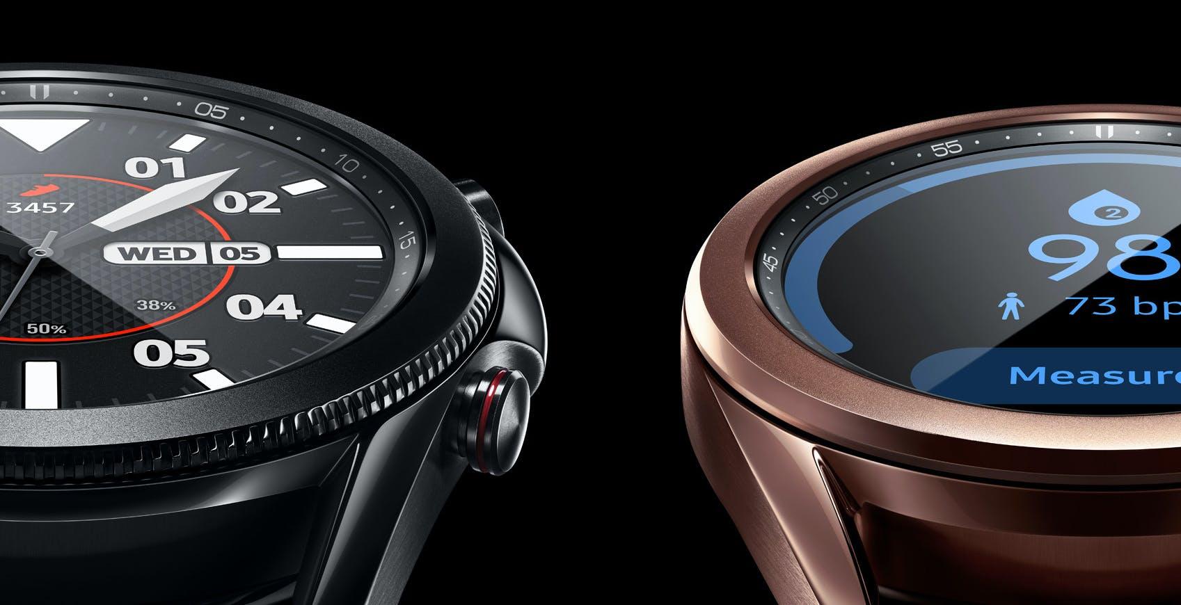 Galaxy Watch3 e Galaxy Watch Active2 ora misurano la pressione sanguigna e fanno elettrocardiogrammi