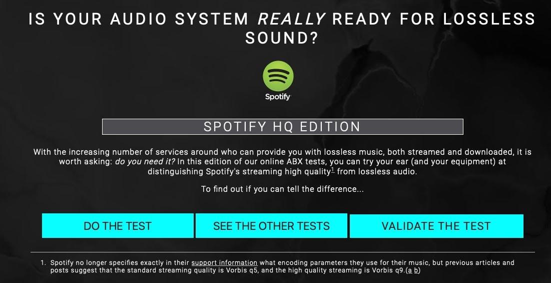 Sai veramente distinguere l'audio lossless? Questo test ti dice se sei pronto per Spotify HiFi