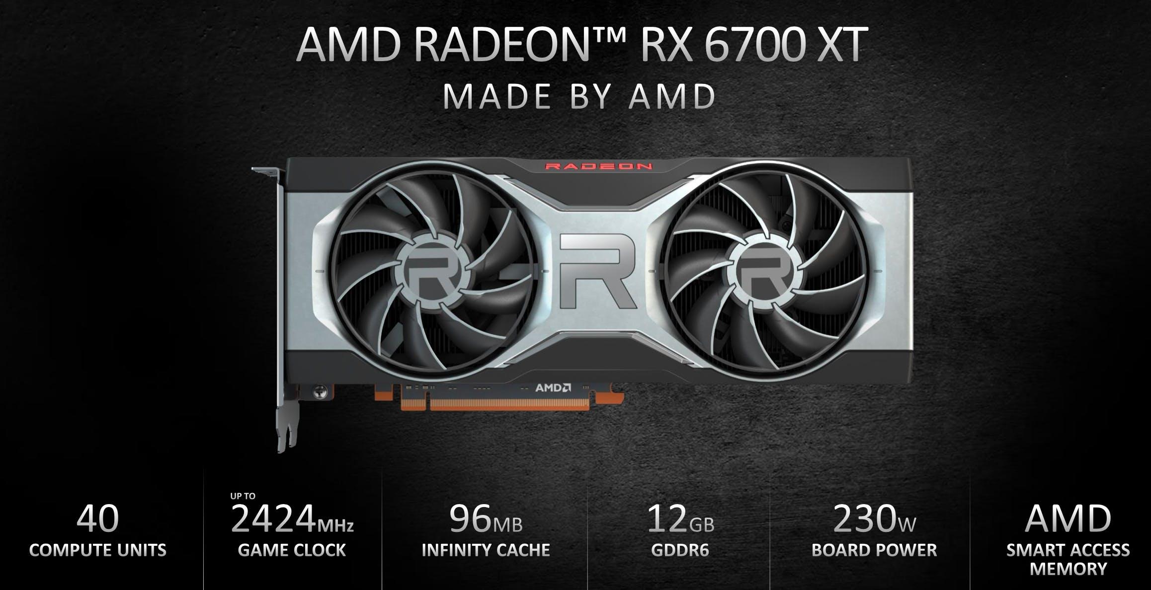 AMD annuncia la nuova Radeon RX 6700XT per il gaming a 1440p. Click day il 18 marzo