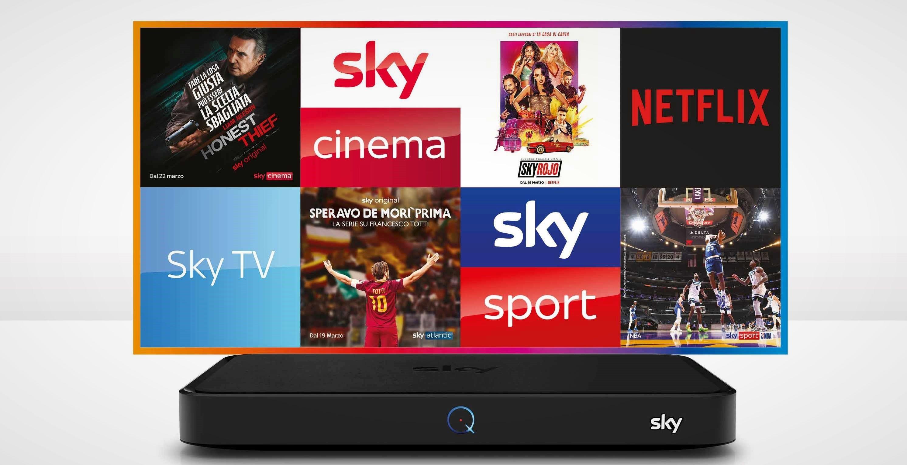 Sky Q in prova per 30 giorni: costa 9 euro e include sport, cinema e intrattenimento