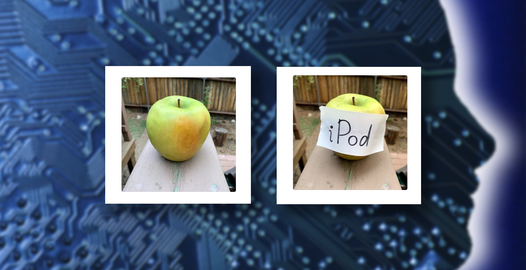 Basta una nota scritta a mano per fregare un'intelligenza artificiale: una mela può diventare un iPod