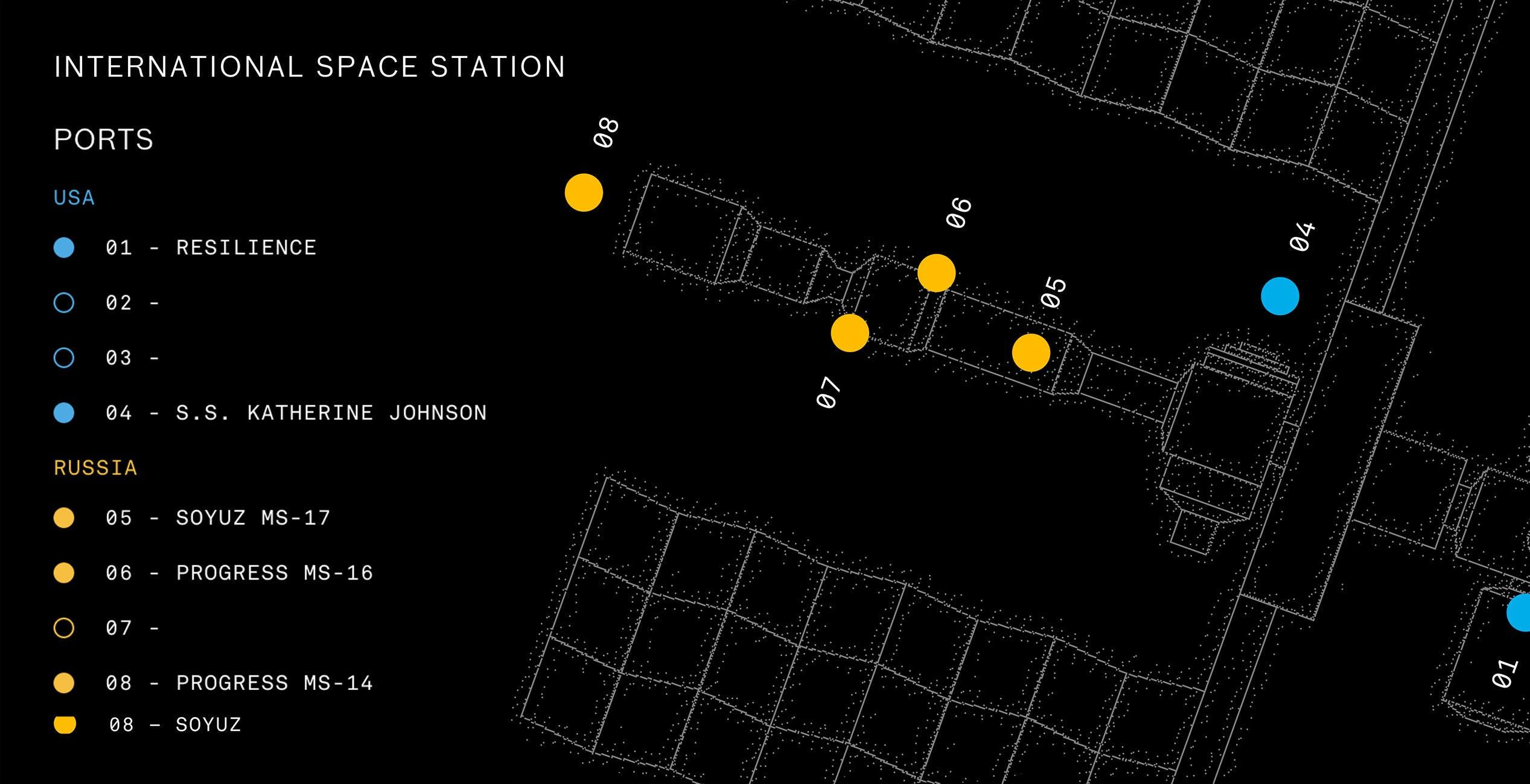 Chi ha ormeggiato alla stazione spaziale internazionale? Un sito ci dice tutto in tempo reale