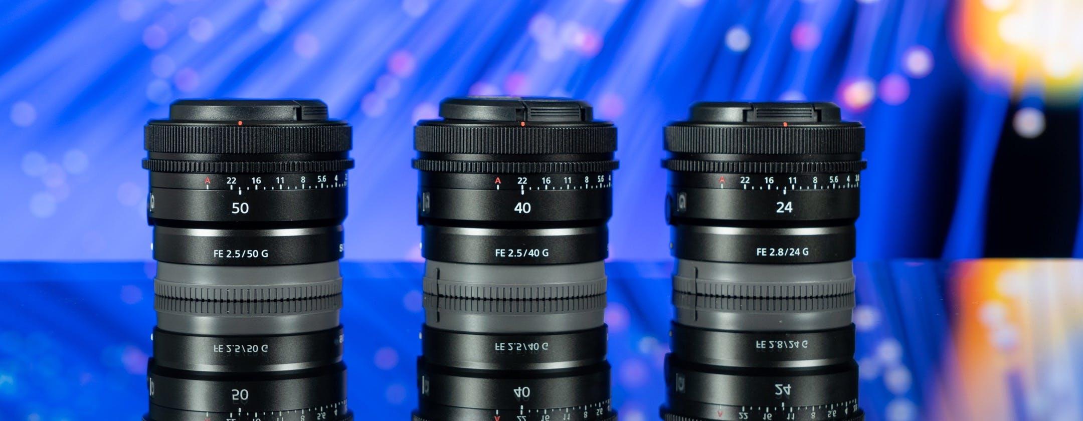 Sony G ultra-compatte a focale fissa, ecco i nuovi 24mm, 40mm e 50mm. Caratteristiche, prezzi e le prime foto