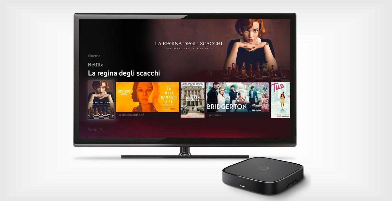 Il box TV di Vodafone è tutto nuovo: è più piccolo, ha una nuova interfaccia e si comanda con la voce