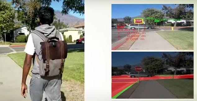 Un prototipo di zaino tecnologico permette ai non vedenti di muoversi in sicurezza anche da soli