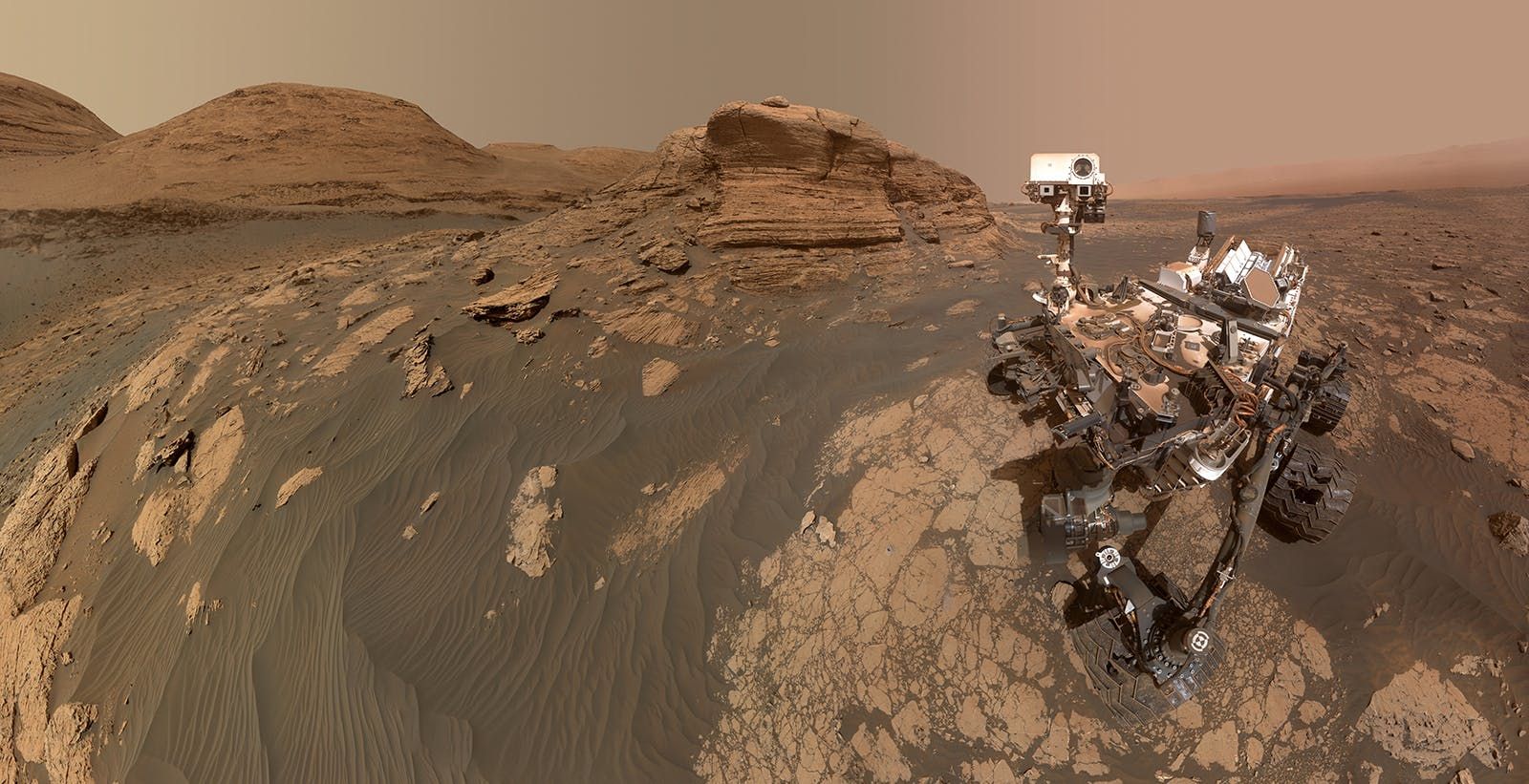 Arriva da Marte il selfie da 318 megapixel del rover Curiosity