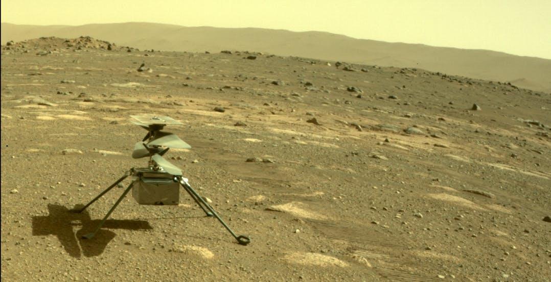 Ingenuity ha superato la prima notte da solo e ora è pronto per il primo volo su Marte