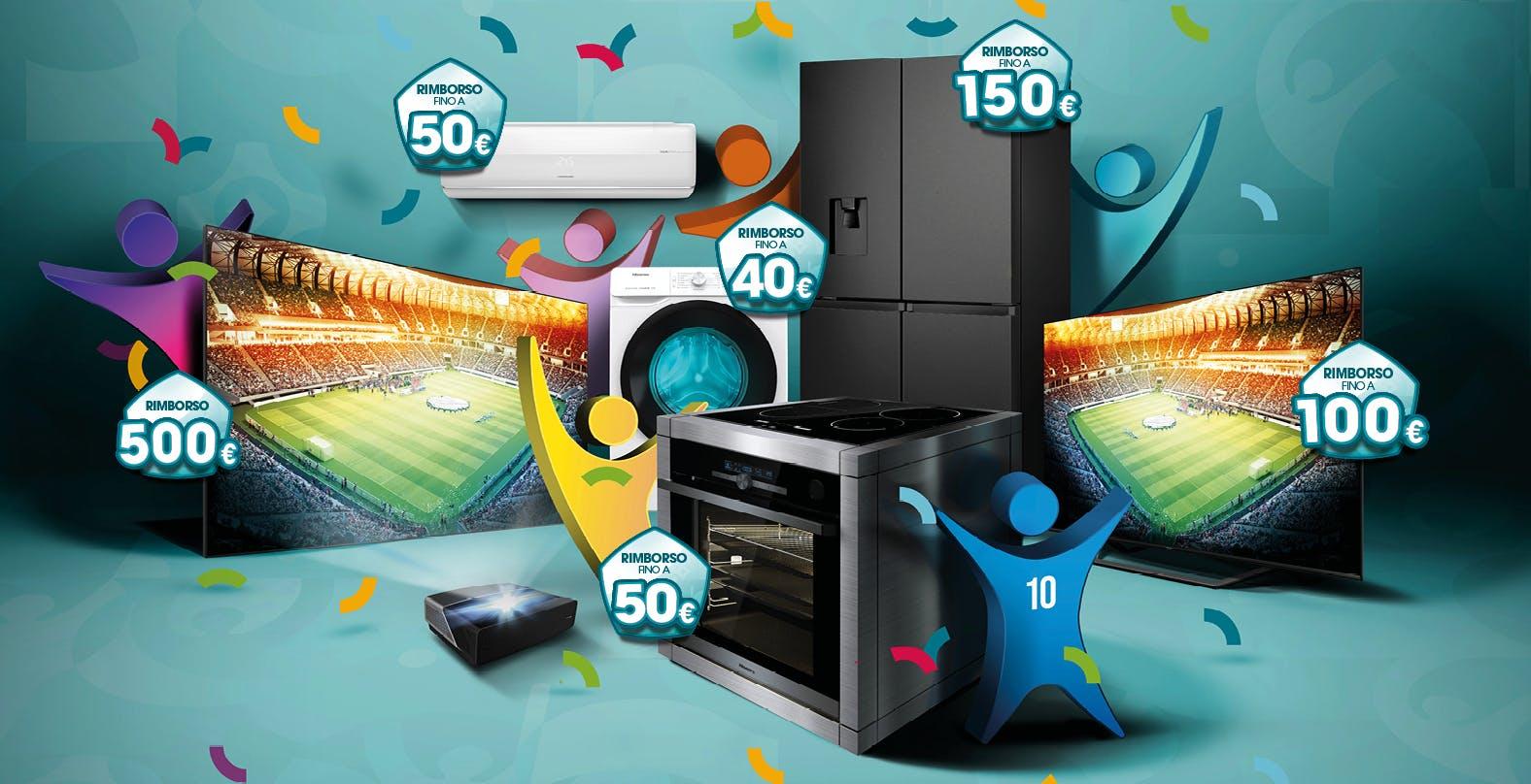 Hisense offre fino a 500 euro di rimborso per l'acquisto di Laser TV, Smart TV ed elettrodomestici