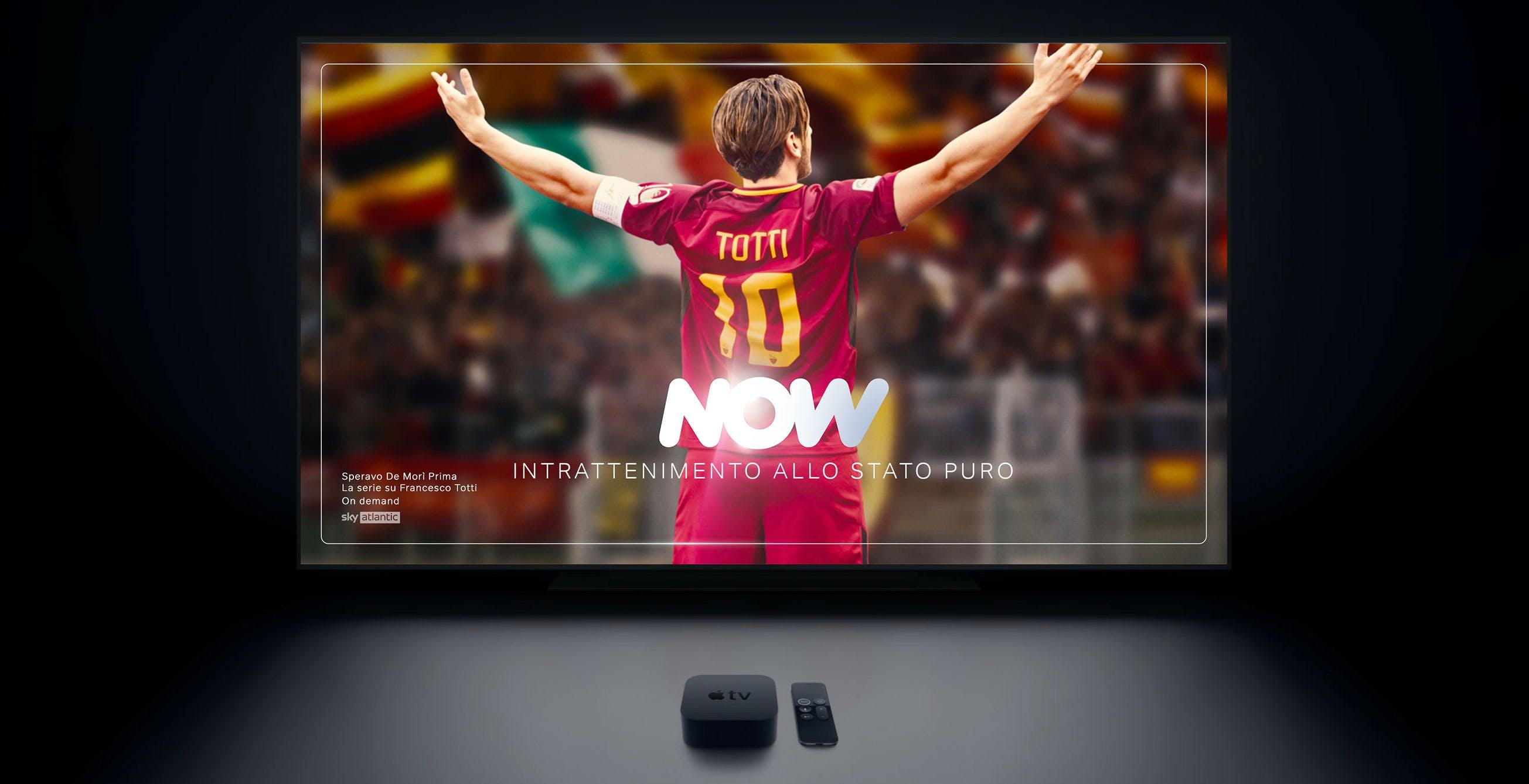 NOW arriva su Apple TV. Migliora anche la risoluzione: da oggi tutta NOW passa a 1080p