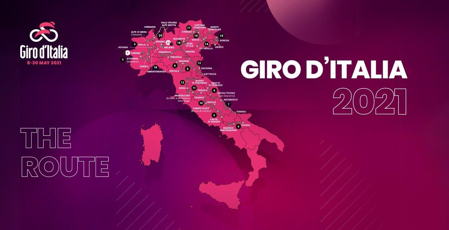 Tutto il Giro d'Italia 2021 in diretta su Rai 2, Rai Sport e RaiPlay
