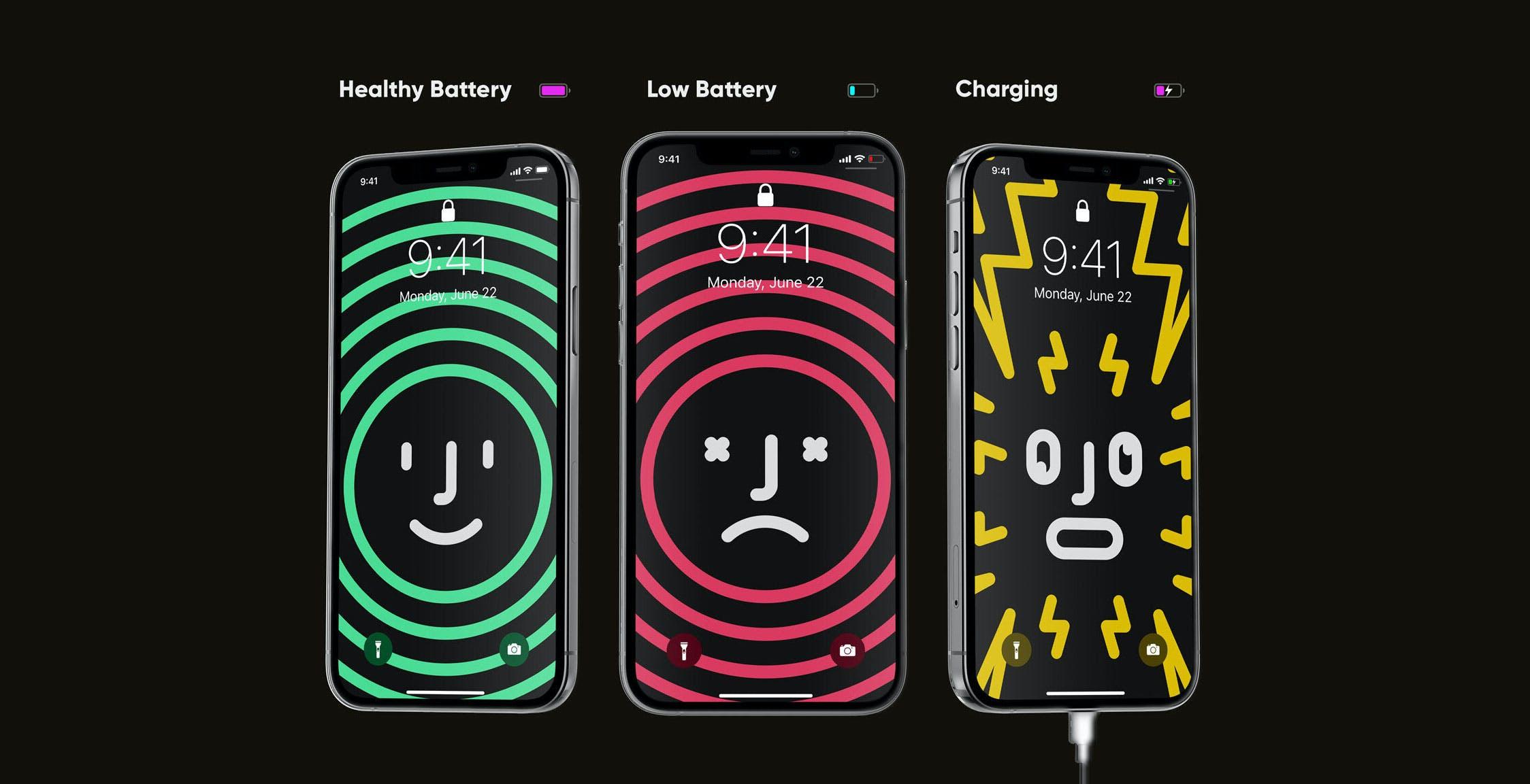 iPhone, lo sfondo cambia a seconda della carica della batteria. L'idea di un designer è geniale