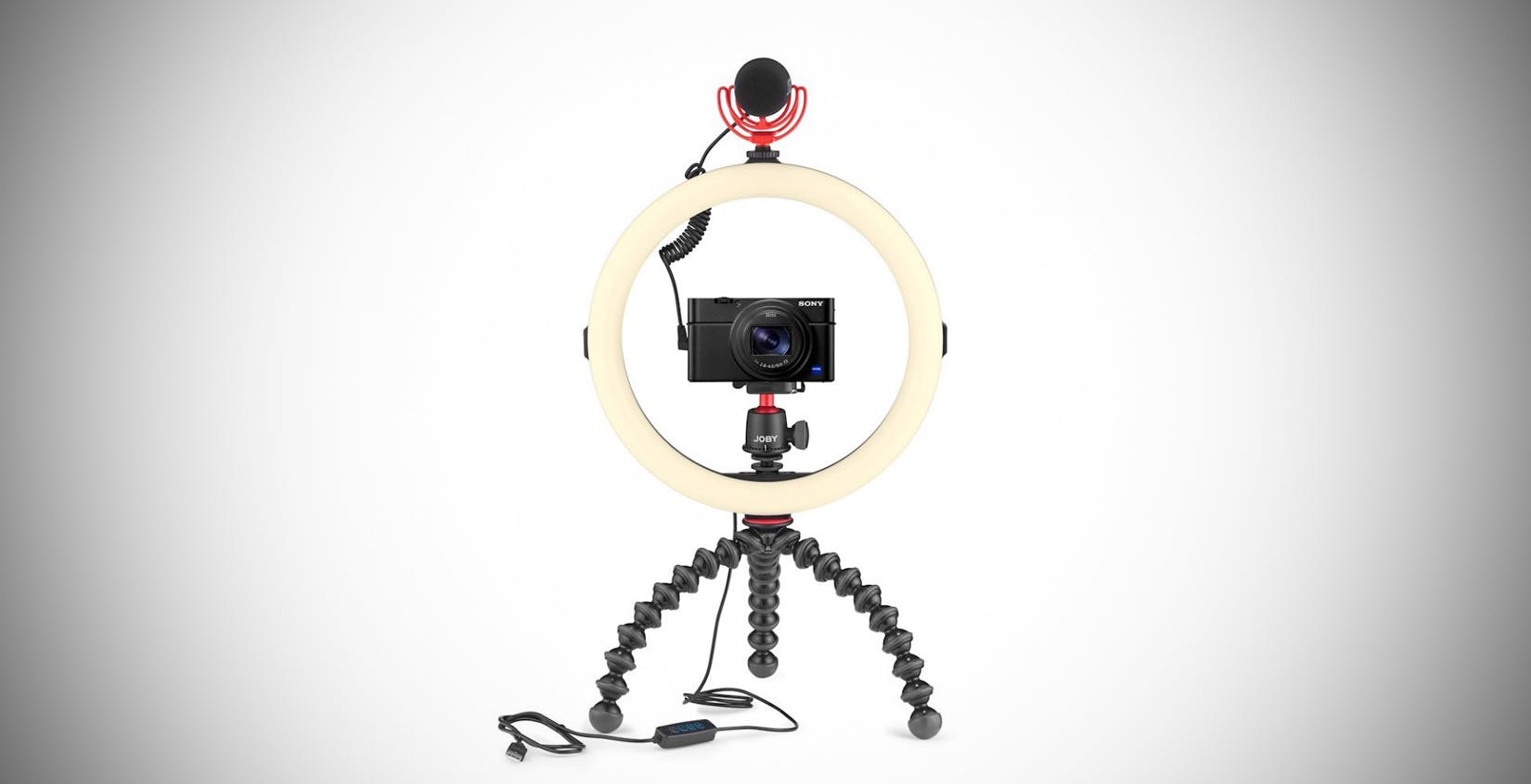 """Ecco la luce anulare per vlogger dal prezzo contenuto: Joby Beamo Ring Light 12"""""""