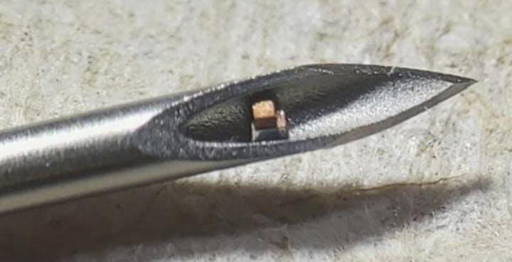 Ecco il chip sottocutaneo più piccolo del mondo: è invisibile a occhio nudo, si inietta e misura la temperatura