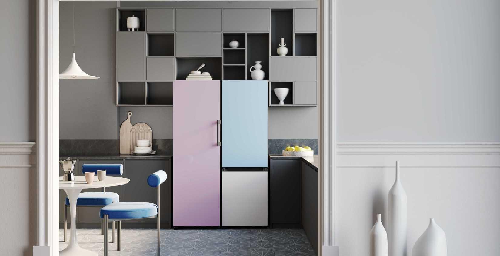 Samsung porta in Italia i frigoriferi personalizzabili: l'utente può scegliere moduli, colori e finiture