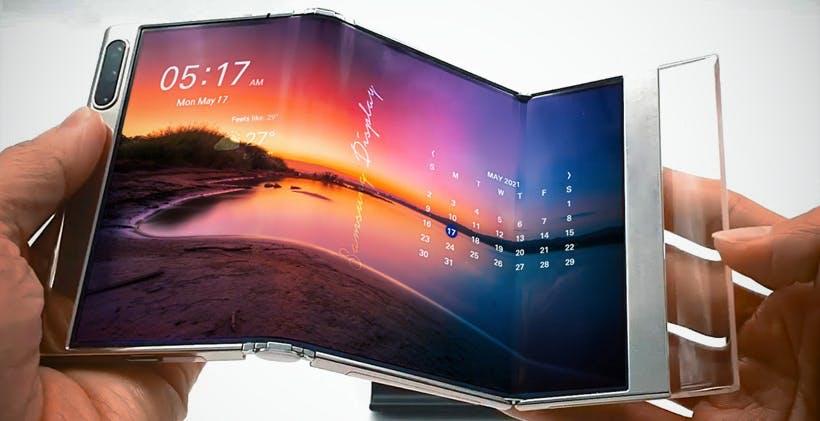 Samsung Display mostra S-Foldable, lo schermo OLED che si piega in tre