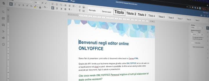 ONLYOFFICE: documenti, CRM, progetti, posta e calendario sia locale che in cloud. Per le startup è gratuito