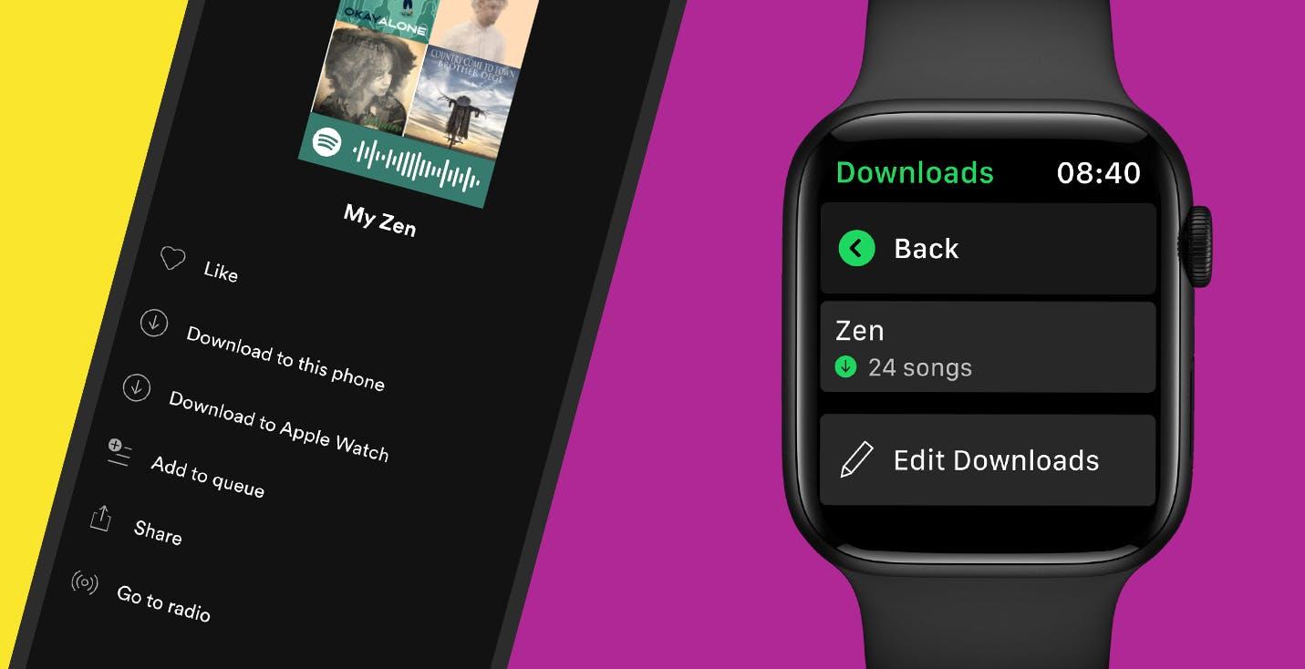 Spotify annuncia il download dei brani su Apple Watch e l'ascolto direttamente dall'orologio