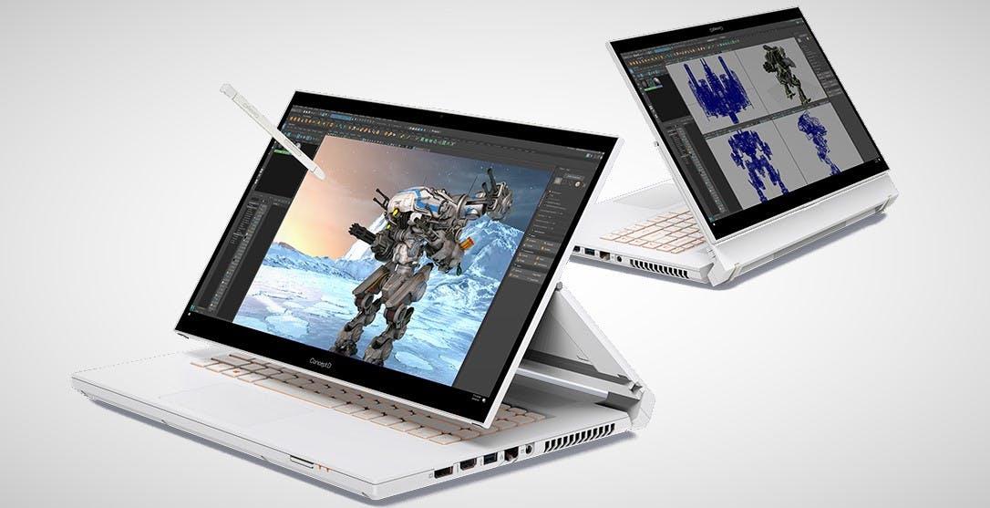 Acer aggiorna i notebook ConceptD: anche con schermi 4K e scheda grafica GeForce RTX serie 30
