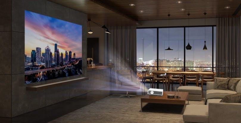 CineBeam 4K HU810PW è il nuovo proiettore Laser con WebOS di LG