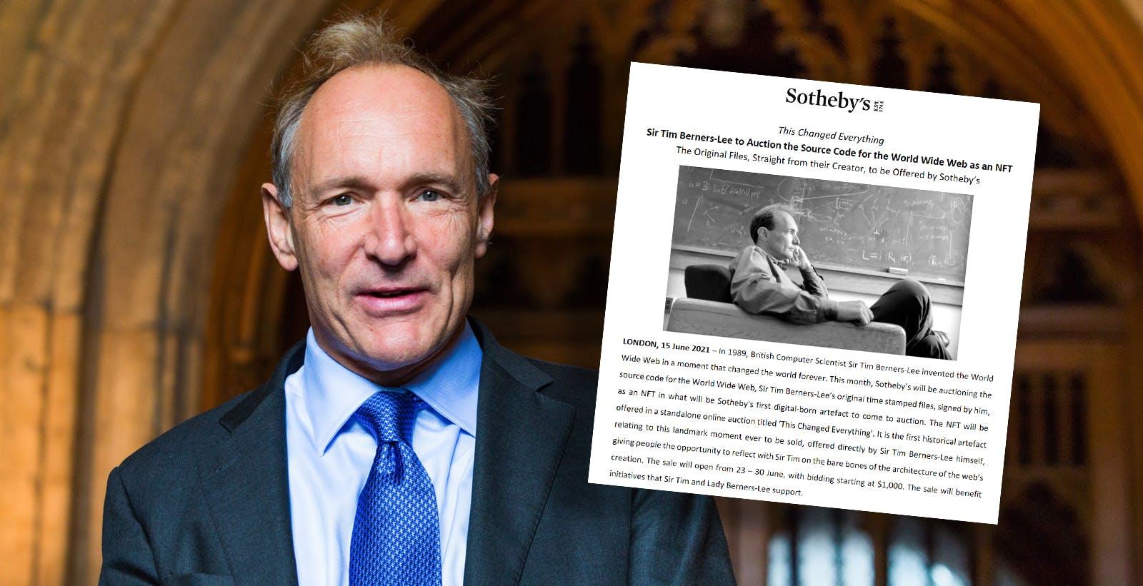 Berners-Lee tranquillizza: non vuole vendere il web come NFT