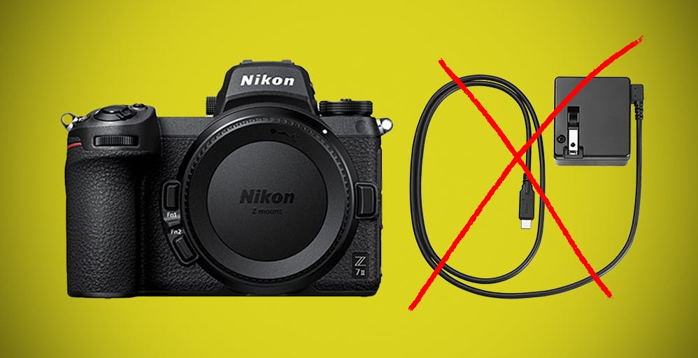 Nikon non includerà più l'adattatore di ricarica nella Z7 e Z7 II. Colpa della carenza di semiconduttori