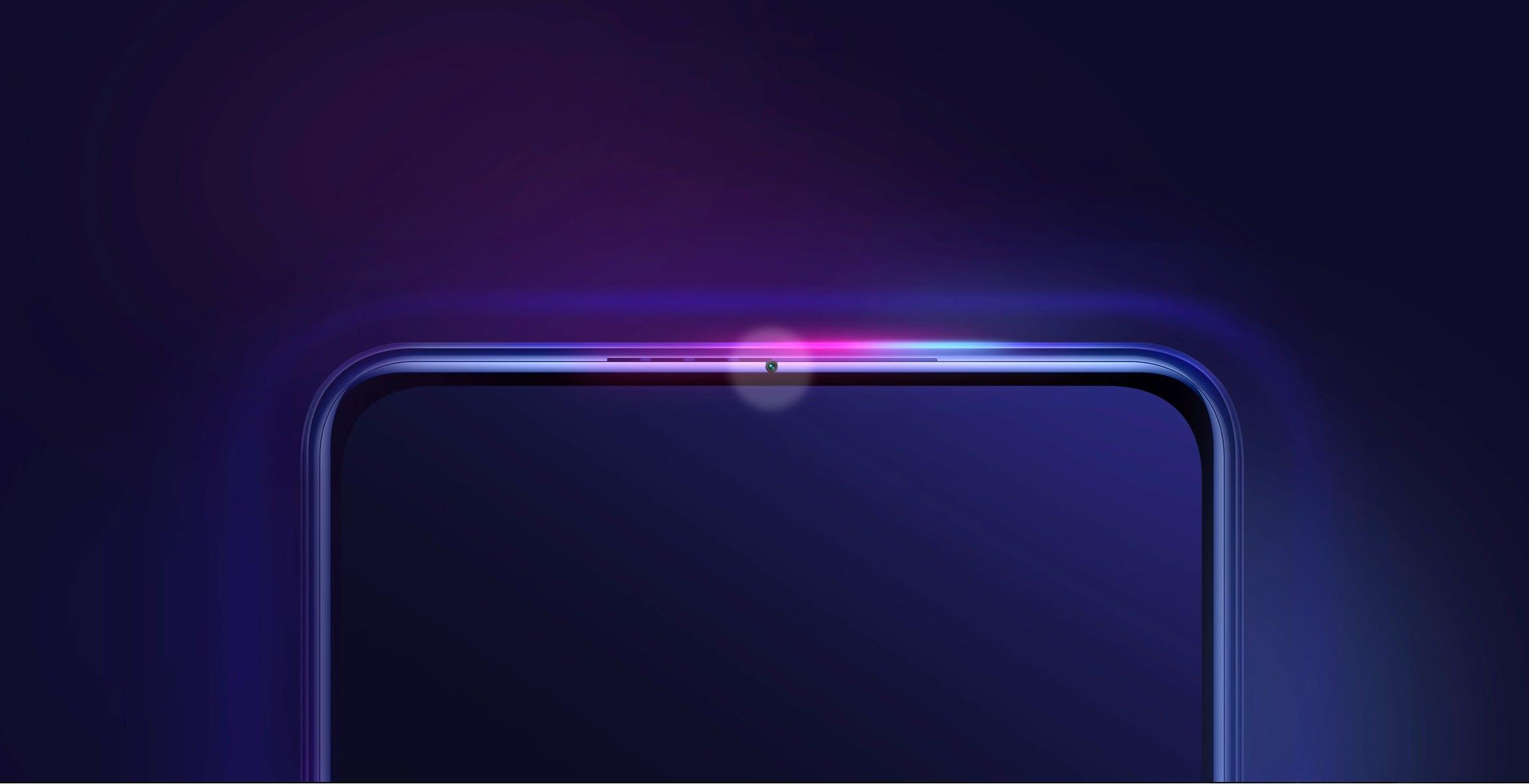 Xiaomi nasconde la camera frontale nella cornice del telefono. L'immagine trasmessa con la fibra ottica