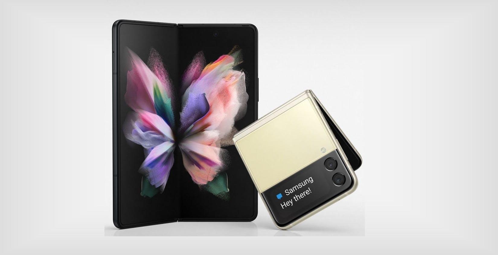 Ecco come saranno i pieghevoli Samsung: online le immagini di Fold 3 e Flip 3