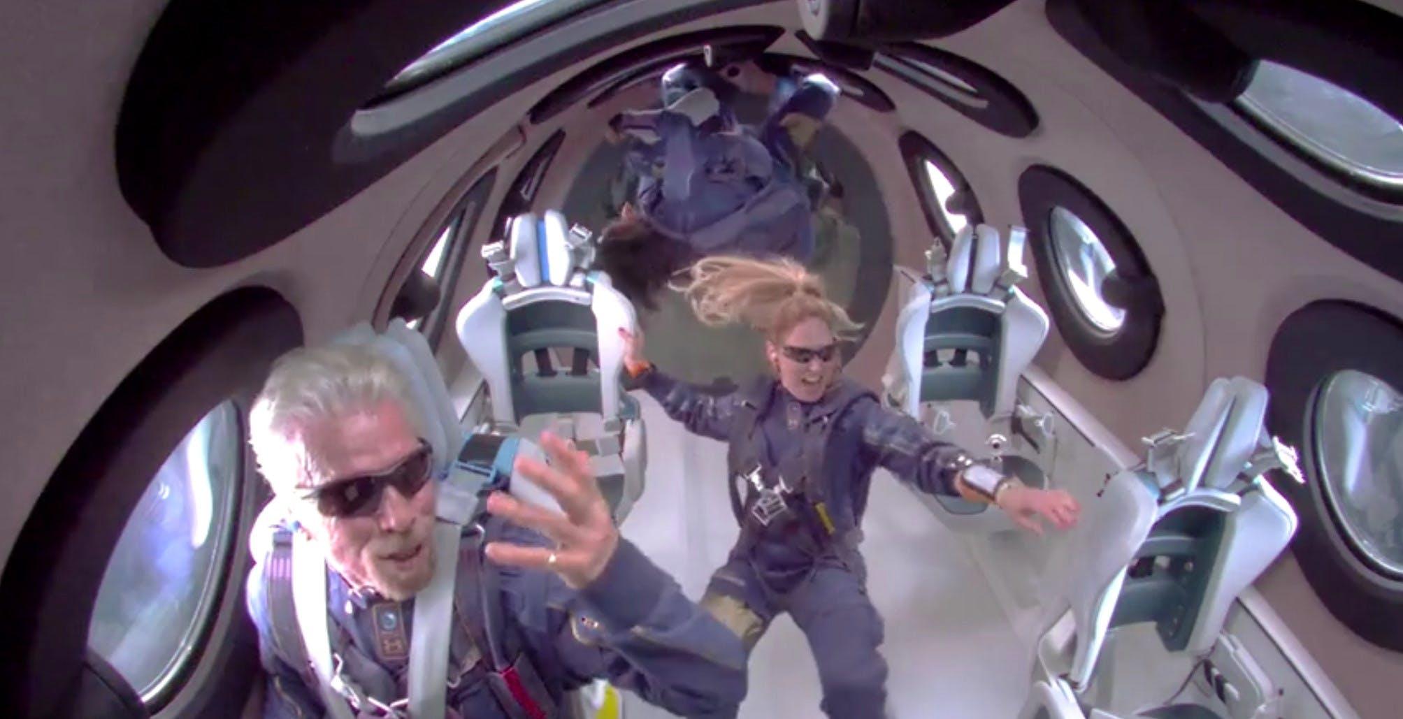 Sir Richard Branson è andato nello spazio con la sua Virgin Galactic