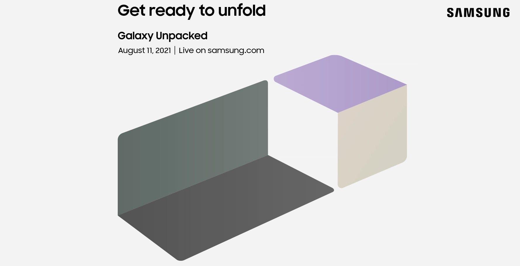 Ufficiale l'evento Samsung l'11 agosto. Presenti Galaxy Z Fold 3 e Z Flip 3