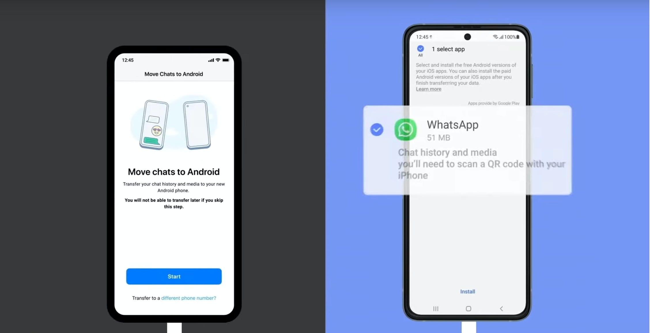 WhatsApp permetterà la migrazione delle chat tra iPhone e Android, cominciando con i Samsung