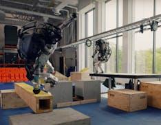 Questo video di due robot di Boston Dynamics che fanno parkour è semplicemente incredibile