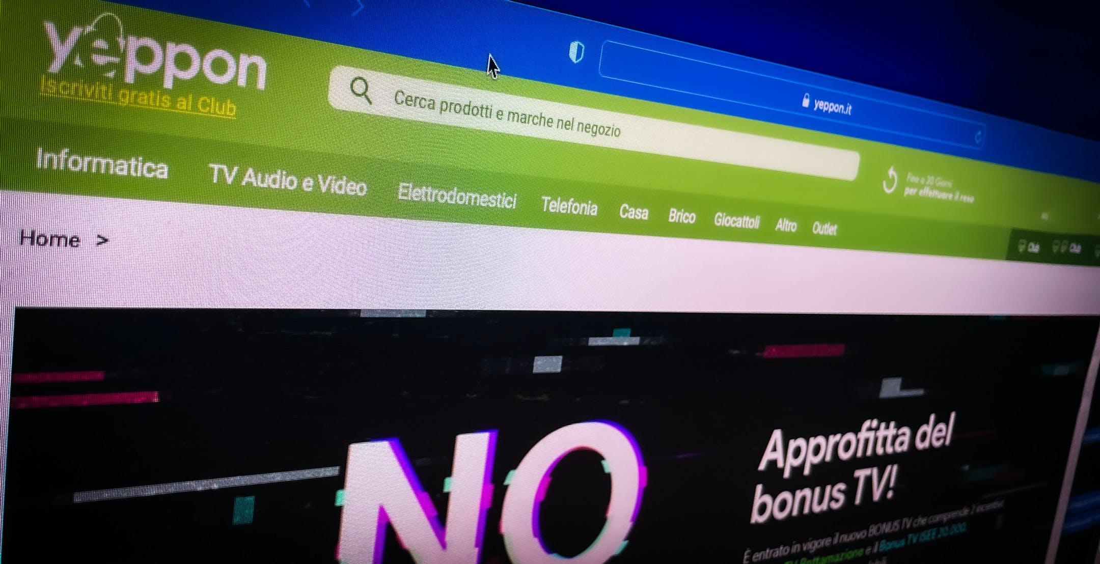 Yeppon meglio di Amazon: ora il Bonus TV si può richiedere e ottenere anche online