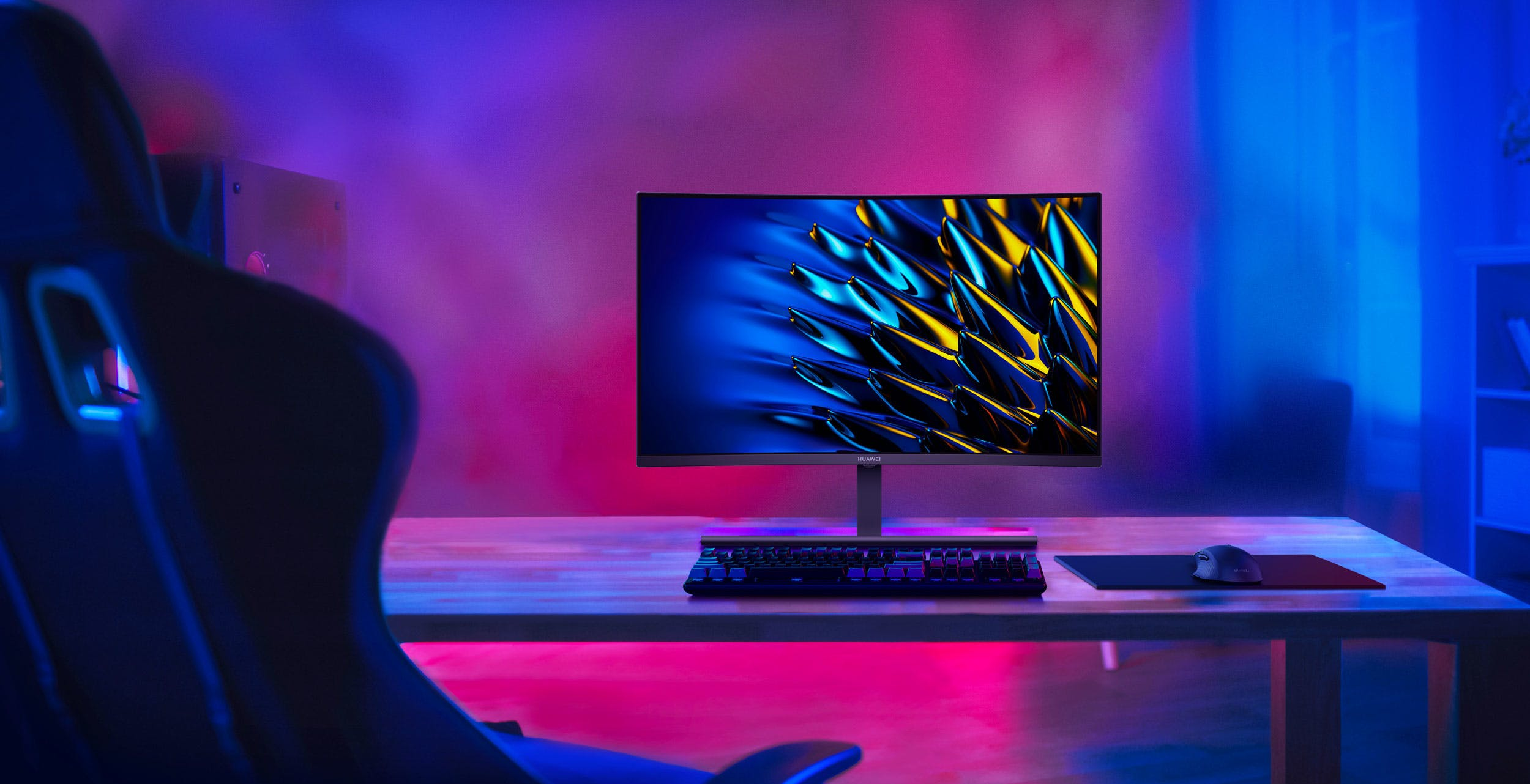 Il nuovo monitor da gaming Huawei è curvo, arriva a 165Hz e costa 399.90 euro
