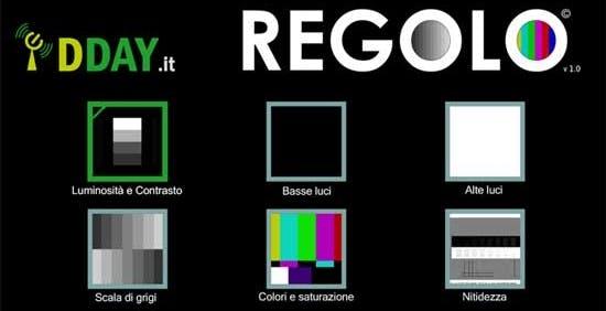 Ecco Regolo, il disco per calibrare il tuo TV