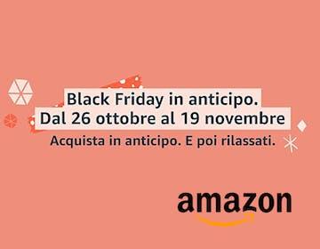 Amazon anticipa il Black Friday, migliaia di prodotti in promozione da oggi