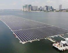 Fotovoltaico sul mare, Singapore inaugura il suo primo parco solare galleggiante