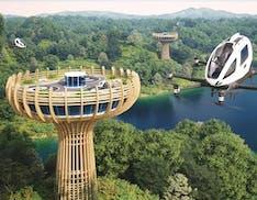 Una torre di 30 metri, ecosostenibile e integrata nel paesaggio. Da qui decolleranno i taxi - drone nel futuro
