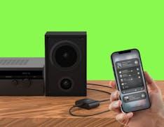Con Belkin SOUNDFORM Connect, qualsiasi stereo o diffusore attivo funziona con AirPlay 2 e HomeKit