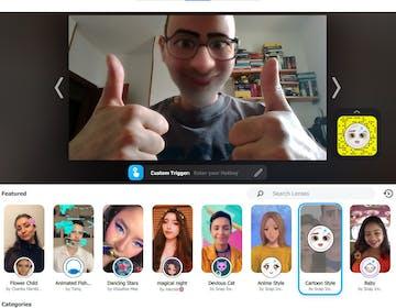 Il volto di un cartone animato su Zoom, Meet e Teams. Come funziona la lente Cartoon Style di Snap Camera