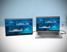 """Dell ha il suo primo monitor portatile da 14"""". In arrivo anche i monitor per le videoconferenze con fotocamere da 5 MP"""