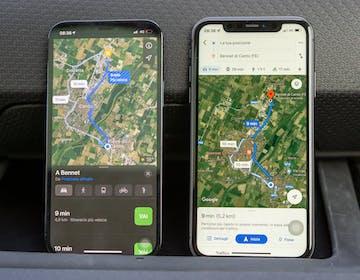 Google Maps vs. Mappe Apple: il confronto che vede vincitrice un'app che ancora non c'è