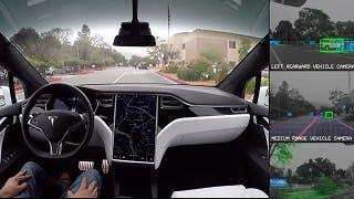 Ecco cosa vede l'autopilot di Tesla