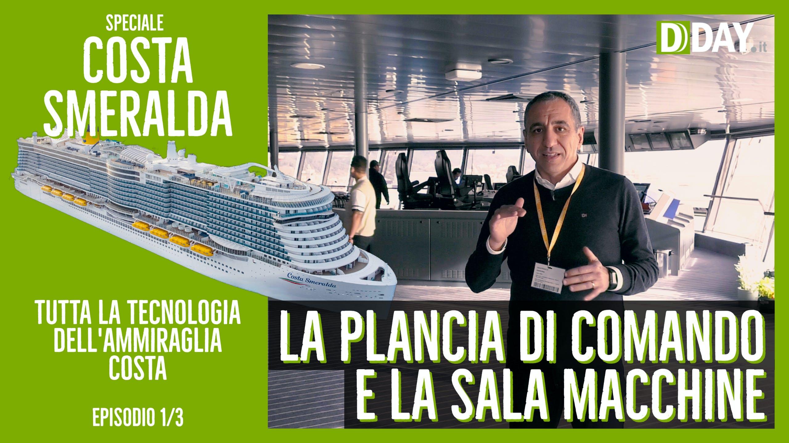 La tecnologia di Costa Smeralda - Parte I: la nave, la plancia di comando, la propulsione a gas