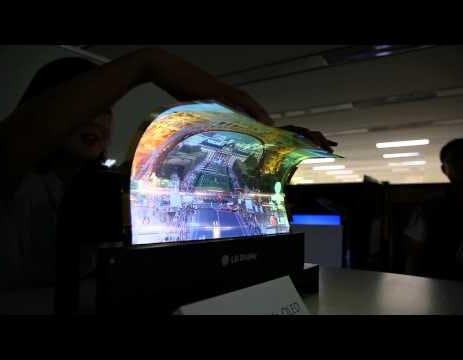 Guarda LG arrotolare il suo OLED da 18 pollici